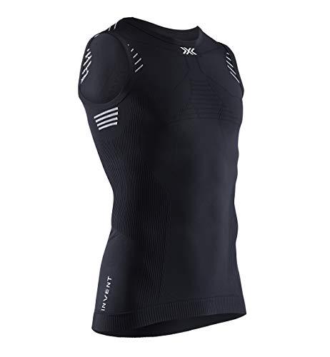 X-Bionic Invent 4.0 Light Singlet Men T-Shirt Homme, Opal Black/Arctic White, FR : L (Taille Fabricant : L)