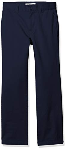 Amazon Essentials Straight Leg Flat Front Uniform Chino pants, Navy Blue, 10(S)
