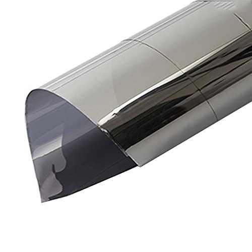 SHHMA One Way Window Espejo de la película Reflectante Adheneal Ventana Tinte Control de Calor Ventana de Vidrio Película de Vidrio, Gris Plata,23.6inches*6.5feet