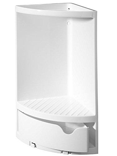 ESH esh90602Eck-Wandregal für Badezimmer-Armaturen, Kunststoff, 17,3x 17,3x 37,5cm, weiß