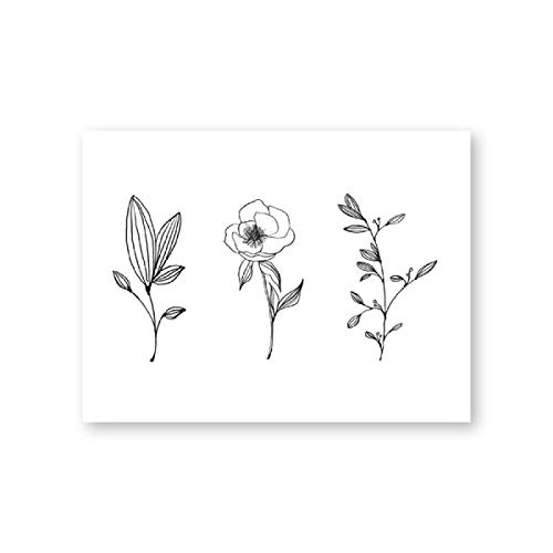 Minimalist Botanical Print Wall Art Pencil Leaf Drawings Canvas Painting Contour Plant Wall Picture Poster Home Decor 40x60cm frameless