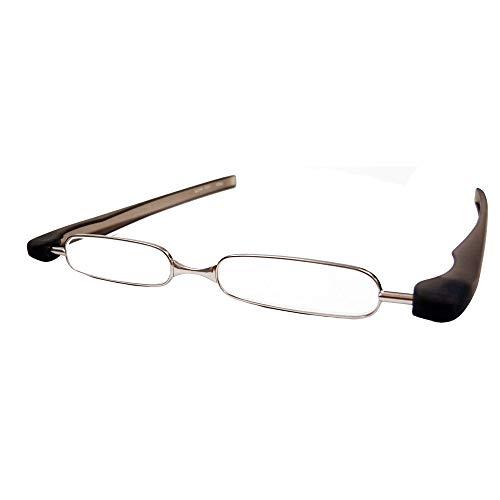 ポッドリーダースマートミニ 新型 ポッドリーダースマート 折りたたみ式 +1.0〜+3.0 携帯用 スマホ 老眼鏡 リーディンググラス コンパクト (+2.5, グレー)