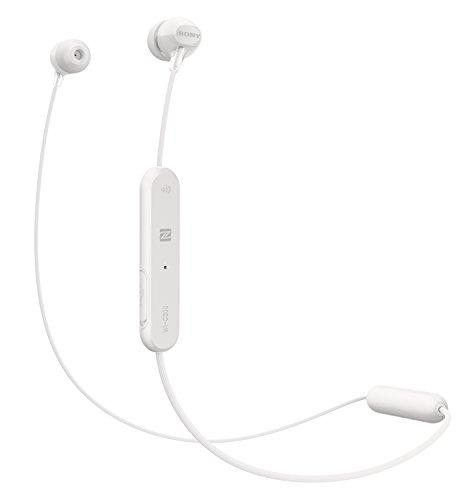 Sony WI-C300 Kabelloser In-Ohr Kopfhörer (Neckband Design, Bluetooth, NFC, Headset mit Mikrofon für Telefon & PC/Laptop, bis zu 8 Stunden Akkulaufzeit, Voice Assistant) weiß