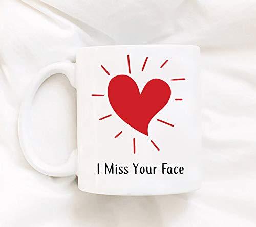 Lplpol I Miss Your Face - Taza para café o té con texto en inglés