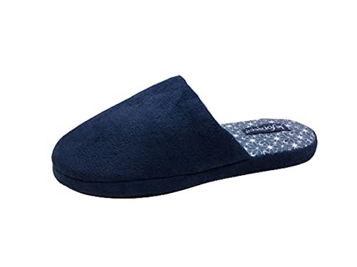 de fonseca Ciabatte Donna Pantofole Invernali FANTASIE FIORI nuova collezione (BLU SCURO, 38, numeric_38)