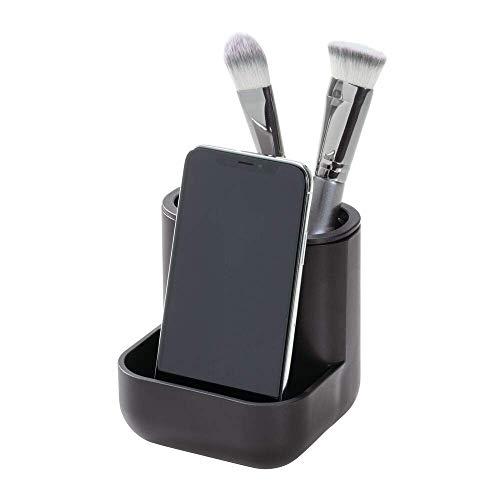 iDesign Make-up Organizer, kompakter Kosmetik Organizer mit drei Fächern aus Kunststoff, Halter...