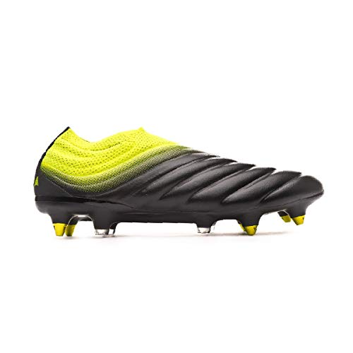 adidas Copa 19+ SG, Bota de fútbol, Core Black-Solar Yellow-Core Black, Talla 8 UK (42 EU) 🔥