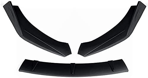 QINDE 3 Piezas Universal Coche Parachoques Delantero Divisor Spoiler Labio Difusor Labio Apto para Nissan Altima Sentra Maxima 300Z 350Z 370Z Skyline R33 GTR