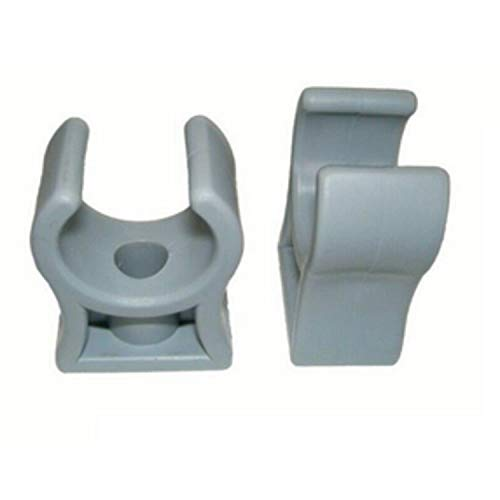 Rohrklemme RKPG 28 (25 Stück), 28-30 mm, M6 Rohrclips Rohrhalter Kunststoff Grau