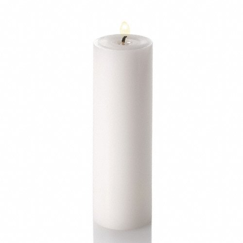 Richland 2'x 6' Pillar Candles White Unscented Set of 20