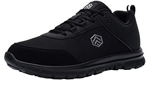 DYKHMILY Impermeable Zapatillas de Seguridad Hombre Zapatillas de Trabajo con Punta de Acero Transpirable Botas de Seguridad (Negro Silencioso,43 EU)