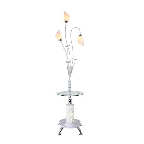 Lámparas de Pie Lámpara de Piso Luz de Pie Lámpara de pie LED Moderna creativa con mesa de té Tipo vertical Lámpara de pie Pantalla de 3 cabezales Lámpara de pie Dormitorio Sala de estar Lámparas de p