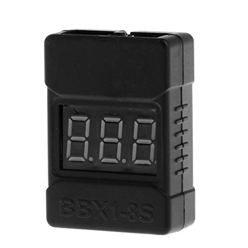 fatteryu BX100 1-8S Lipo/Li-ion/Fe Battery Low Voltage Tester Buzzer Alarm with Speakers