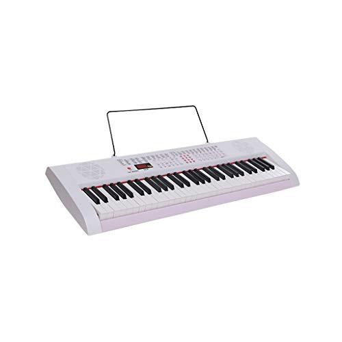 LIUFS-El teclado Teclado 61 Teclas Teclas Piano Niños Adultos Principiantes Introducción Enseñanza Piano Juguete De Música Inteligente (color : Blanco)