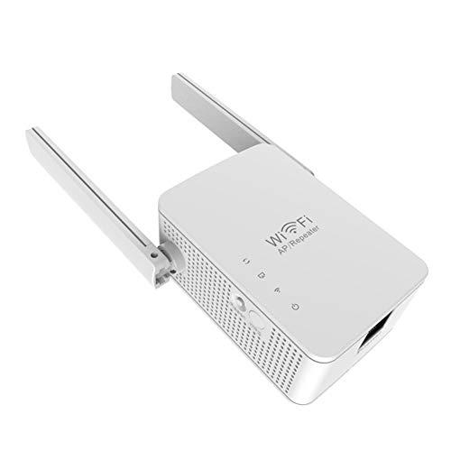 Mogzank Amplificador de ExtensióN de Rango WiFi InaláMbrico Repetidor de Wi-Fi de 300 Mbps Amplificador de Seeal Enrutador de Red-Enchufe de UE