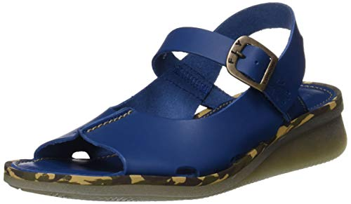 Fly London Damen Cult398fly Slingback Sandalen, Blau (Blue 005), 42 EU