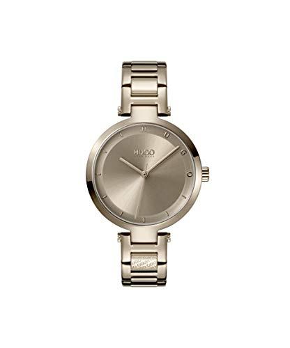 HUGO by Hugo Boss #HOPE 1540077 - Reloj de cuarzo de acero inoxidable con correa chapada en oro beige, 8 (Modelo: 1540077)