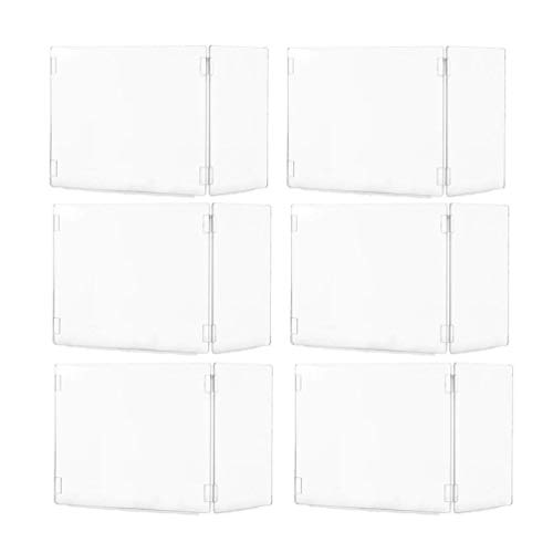 Acrylic Sneeze Guard, Plexiglass Shield Panel for Student Desk, 3-Sided Sneeze Barrier, 15x19x12 Portable Partition Shields for School,Classroom Desk,Library,Counter,Offices, Canteen