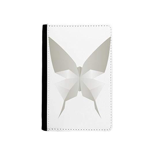 beatChong Origami Mariposa Blanca Pasaporte Patrón Abstracto Bolso De Viaje Portatarjetas De La Caja Cubierta De La Carpeta
