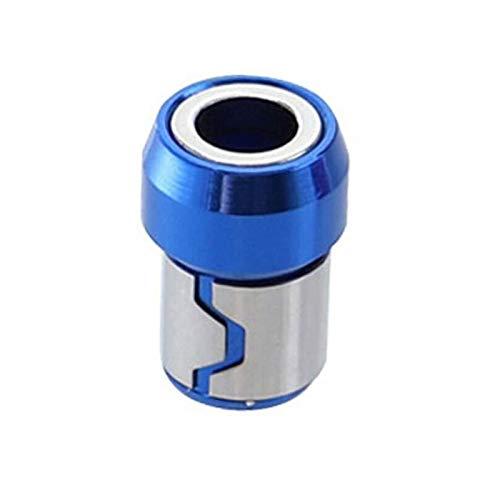 VIAIA Anillo magnético Universal Aleación Anillo magnético Destornillador bits Anticorrosión Magnetizador Fuerte bit Anillo magnético Azul
