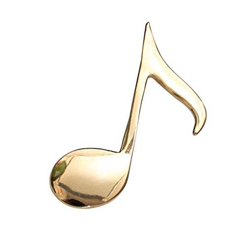 TOOKY Shiny Golden Music Symbol Men's Brooch (Gold)