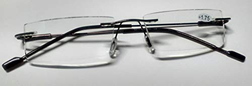 Smart Corporate look Unisex Rimless Reading EyeGlasses for Men and Woman (+2.25)