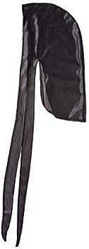 Juvale 8-Pack Du-Rag Head Wrap Wave Cap for Men Sports or Casual Wear Black