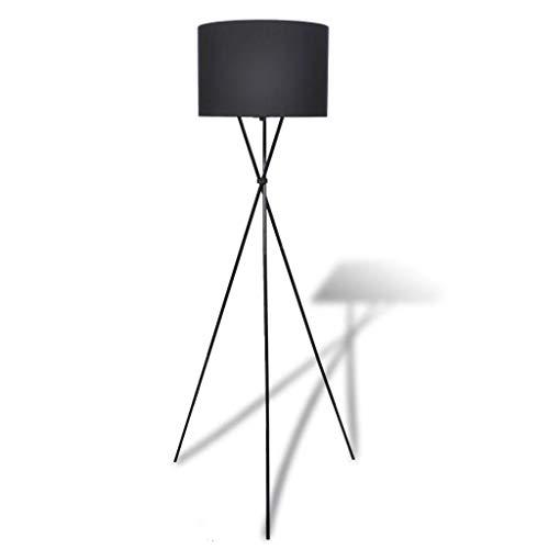 Cikonielf – Lámpara de pie con pantalla de lámpara de pie alta, 330 ~ 380 mm, color negro