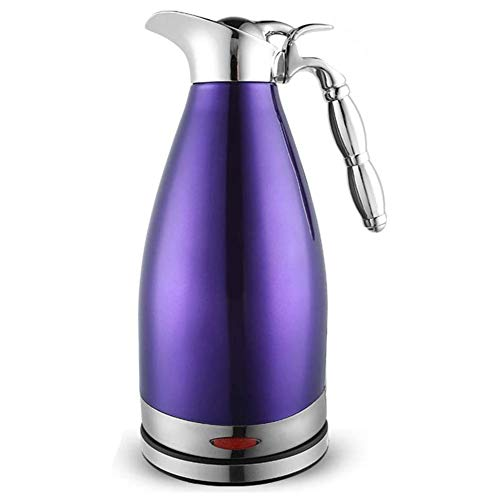 Electric Kettle, Stainless Steel Double Liner Insulation Water Boiler & Heater, Cordless Coffee Pot with Auto Shut-Off & Boil Dry Protection, 2.0L, 1350W,Purple