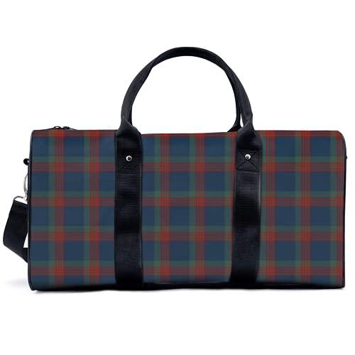 Bolsa de deporte para gimnasio, bolsa de deporte potable, azul, verde y rojo Wilson Clan Scottish Plaid Bag Yoga Bag Bolsas de hombro Bolsa de viaje Bolsa de gran capacidad para hombres y mujeres