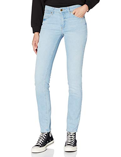 Wrangler Slim Jeans, Azul Claro, 28W x 30L para Mujer