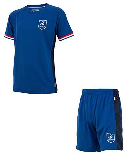 Equipe de FRANCE de football Ensemble Maillot + Short FFF - Collection Officielle Taille Enfant garçon 12 Ans