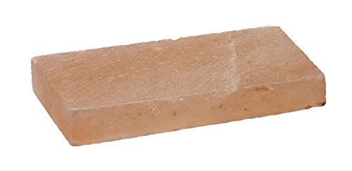 RÖSLE Aromaplanke Salz 2-tlg., Hochwertige Salzplanken für Salzaroma im Grillgut, mehrfach verwendbar, Naturprodukt, 20 x 10 cm