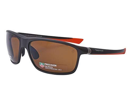 TAG Heuer zonnebril (TH-6023 206) mat zwart - mat oranje - bruin gepolariseerde