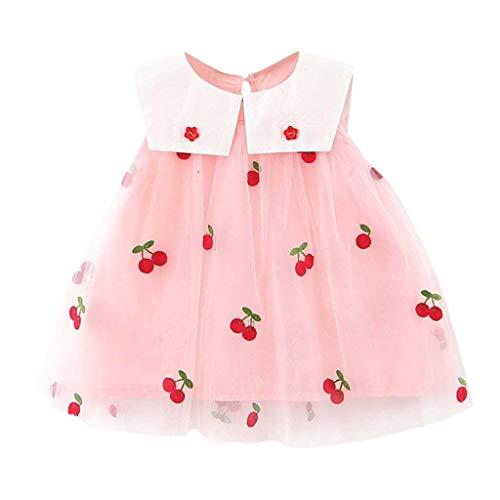 YGbuy Ropa Niña Verano 2020 Malla Vestido Sin Mangas con Plisado Niñas Chaleco Vestido para Niñas Ropa Bebe Recien Nacida Verano Vestido Infantil Fiesta Niña