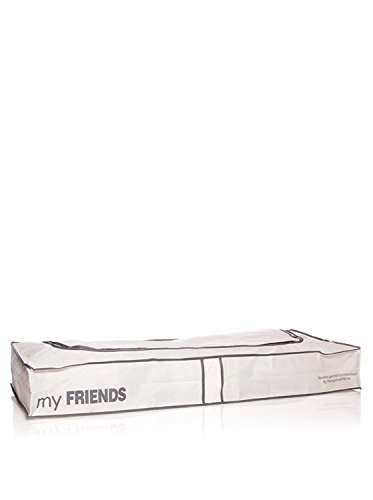 COMPACTOR Extra Flache Unterbettkommode, Anti-Staub, Weiß, Polypropylen und EVA, 45x108x15 cm, RAN634