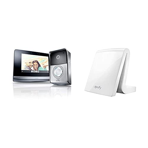 Somfy 2401446 - Visiophone V500, Interphone Vidéo écran Tactile 7 Pouces & 2401354 - Tahoma Box...