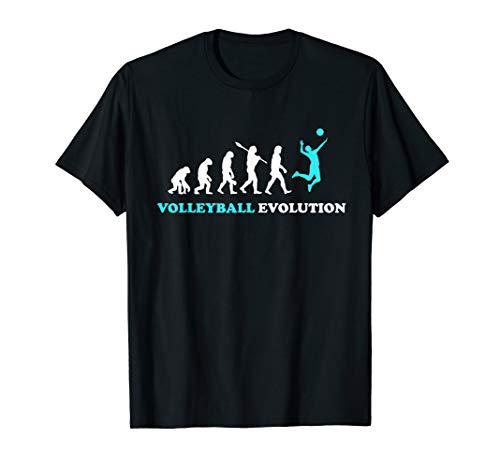 Volleyballer Evolution Volleyballfans Geschenkidee T-Shirt