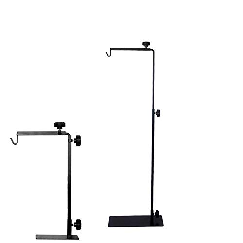 kathson Lamp Stand for Reptile Tank Fixed Bracket Lamp Holder Adjustable for Spiders Lizards, Turtles Cold-Blooded Animals Black
