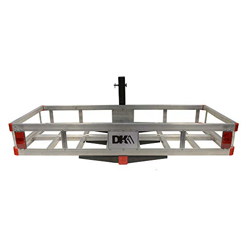Detail K2 HCC502A DK2 500 Pound Capacity 2 Inch Trailer Hitch Mounted Aluminum Cargo Carrier Rack Basket