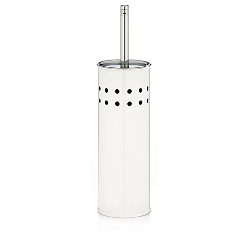 KELA 22514 WC-Bürste und Behälter, WC-Garnitur, Metall, Alaska, Weiß