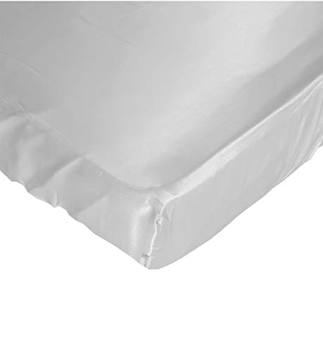 Grey Cloud Satin Fitted Crib Sheet - Fits Standard Crib Mattresses and Daybeds