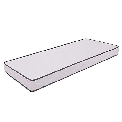 Colchón 90 x 200 x 10 cm - modelo Primavera - Colchón ortopédico, fabricado en espuma Waterfoam, para cama plegable, Transpirable, Anti-ácaro