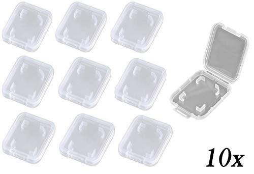 ikarex-shop Hüllen für SD Karten ( 5 oder 10 Stück) Set Speicherkarte Hülle Case Box Aufbewahrungsbox Speicherkartenhüllen Schutzhülle 5X 10x (10x SD Hülle)