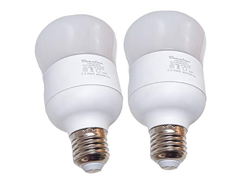 LEDLUX LC2711W - 2 lámparas antimosquitos LED E27, repelente de mosquitos, 11 W, 3 colores, 1850 K, 3800 K, 5700 K, para interior y exterior, con tecnología italiana patentada