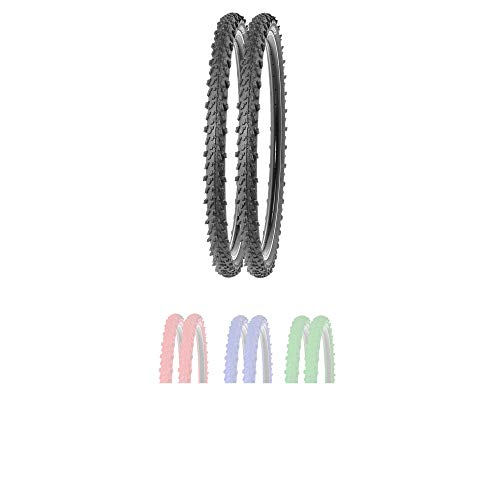 P4B | 2X 24 Zoll MTB Fahrrad Reifen in Schwarz | Sehr guter Grip in Allen Situationen | Hohe Laufruhe | 24 x 1.95 | 50-507 | Für Mountainbike | 24 Zoll Fahrrad Mantel