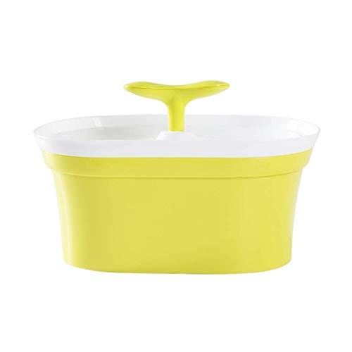 CFSAFAA Automatische Tierfütterung Katzenhunde-elektrische Haustier-Wasser-Brunnen-Brunnenkatze und -hundautomatische Zirkulation Trinkbrunnen-Brunnen(Farbe grün) (Color : Yellow)