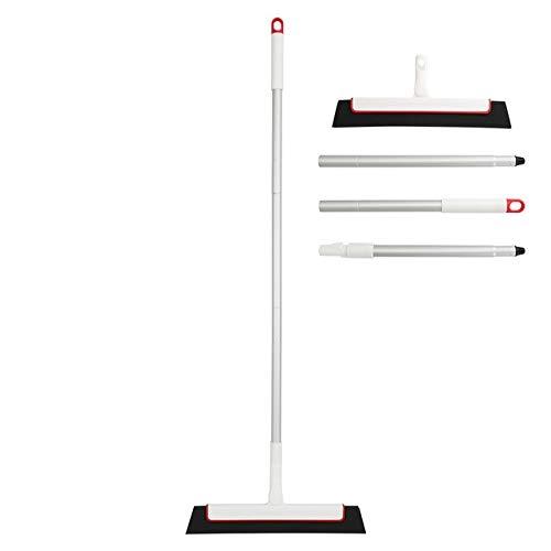 Mdsfe Escoba deGoma EVA Ajustable de 38 Pulgadas,barredora de Agua Profesional para baño, Vidrio, Ventana, limpiaparabrisas de Piso, Color Blanco, a3