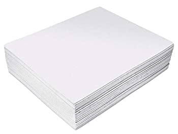 White EVA Foam Sheets 30 Pack 2mm Thick 9 x 12 Inch by Better Office Products White Color for Arts and Crafts 30 Sheets Bulk Pack