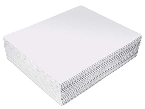 White EVA Foam Sheets, 30 Pack, 2mm Thick, 9 x 12 Inch, by Better Office Products, White Color, for Arts and Crafts, 30 Sheets Bulk Pack